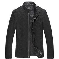 Brand luxury genuine leather jacket male casual clothingen Leather jackets and coats  sheepskin jacket 13J13802XL,3XL
