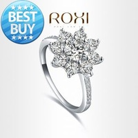ROXI Exquisite beatiful Rings platinum plated with AAA zircon,fashion Environmental Micro-Inserted Jewelry,101012354