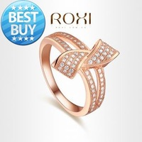 ROXI Exquisite rose-gold Rings platinum plated with AAA zircon,beautiful engagement rings for couples,new style,hot,303004714