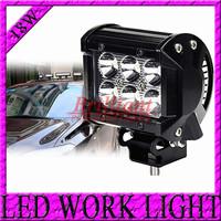 Free shipping 2PCS/lot 4 INCH 18W CREE LED LIGHT BAR FLOOD FOR OFF ROAD LEDBAR IP67 4WD 4x4 ATV UTV SUV LED WORKING LIGHTBAR