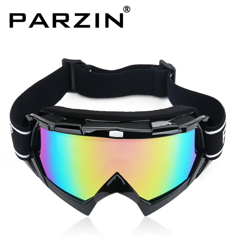 Parzin Ski Glasses Double Layer Cylincrical Windproof Anti-fog Polarized Ski Goggles Ski Eyewear With Box Black(China (Mainland))