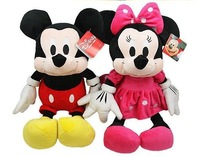 30cm plush toys wholesale mickey Minnie doll lovers wedding doll  valentine's gift Free Shipping High Quality Plush Toy In Stock