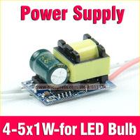Led Driver 4-5 x1W Inside Driver Power Supply Led Light Lamp AC85-265V For E27 E14 GU10 B22 Light Bulb Free Shipping