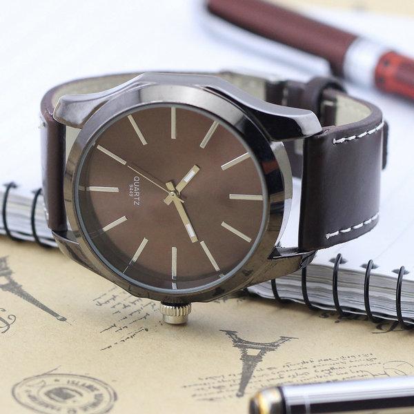Fashion Men Quartz Wrist Watches Synthetic Leather Unisex Watches