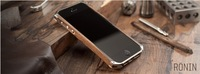 Wholesale Wooden Case For iPhone5 5s Wood+Aluminum Metal Bezel Luxury Bumper Covers For iphone 5 5s Free Shipping