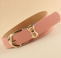 2013 hot sell high quality bowknot pin buckle genuine leather all match dress direction female belts,women's Fashion Accessories