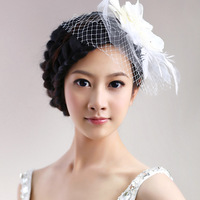 Free Shipping Flower Feather Hair Accessory Hairpin Wedding