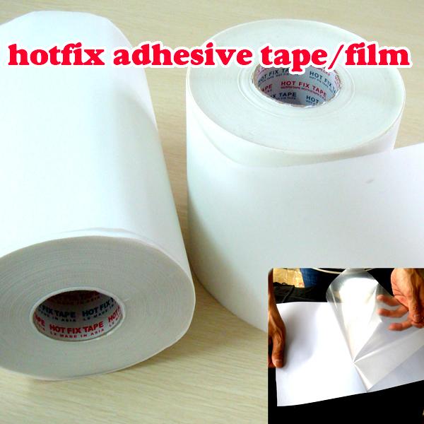 Hot fix paper & tape 10M length/Lot ,24CM wide adhesive iron on heat transfer film super for HotFix rhinestones DIY tools Y2645(China (Mainland))