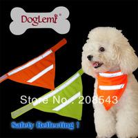 Free shipping !  MOQ: 10pcs/lot , Wholesale dog LED Bandana, safety dog bandana with reflecting ribbon ,  Unit size
