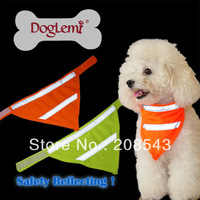 Free shipping !  MOQ: 10pcs/lot , Wholesale dog LED Bandana, safety dog bandana with reflecting ribbon ,  Unit size