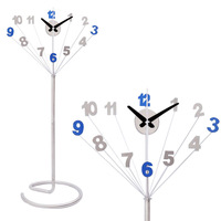 A014 new design peacock floor clock clocks home decor mute height 175cm metal