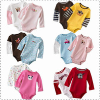 5pcs/lot muti-design baby rompers girls' romper boys' bodysuit outfits cotton coverall infant jumpsuit  toddler's