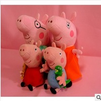 Free Shipping  Peppa & George Pig Family Cute Lovely Plush Toy Set TV Peppa Pig hold Teddy Dolls