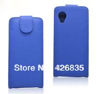 for LG Nexus 5 Flip Case, Flip Leather Case Cover, 500pcs/lot 100pcs per color, Free Shipping