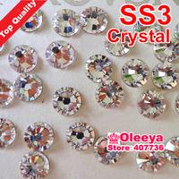 SS3 minisize  Best Quality Hot Fix Rhinestone More Shiny,super Bright hotfix stones Crystal  10gross/bag  Flatback Whit Glue