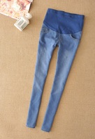 2012 spring summer korean skinny maternity jeans pregnant belly pants 307