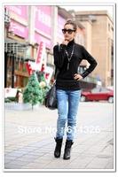 New Fashion Women's Long Sleeve Turtleneck Base Pullovers  Plus Size 2XL 3XL 4XL Sweaters Women Clothing FR941