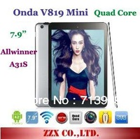 Original Onda V819 Mini Quad Core Allwinner A31s 7.9'' IPS Capacitive Android 4.1 1/16GB HDMI 5.0MP Dual Camera Tablet PC