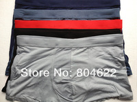 4PCS/Lot 100% Pure natural Health High Quality men's Bamboo Fiber Boxer Shorts Men's Sexy Bamboo Underwear  SJ-MU007C