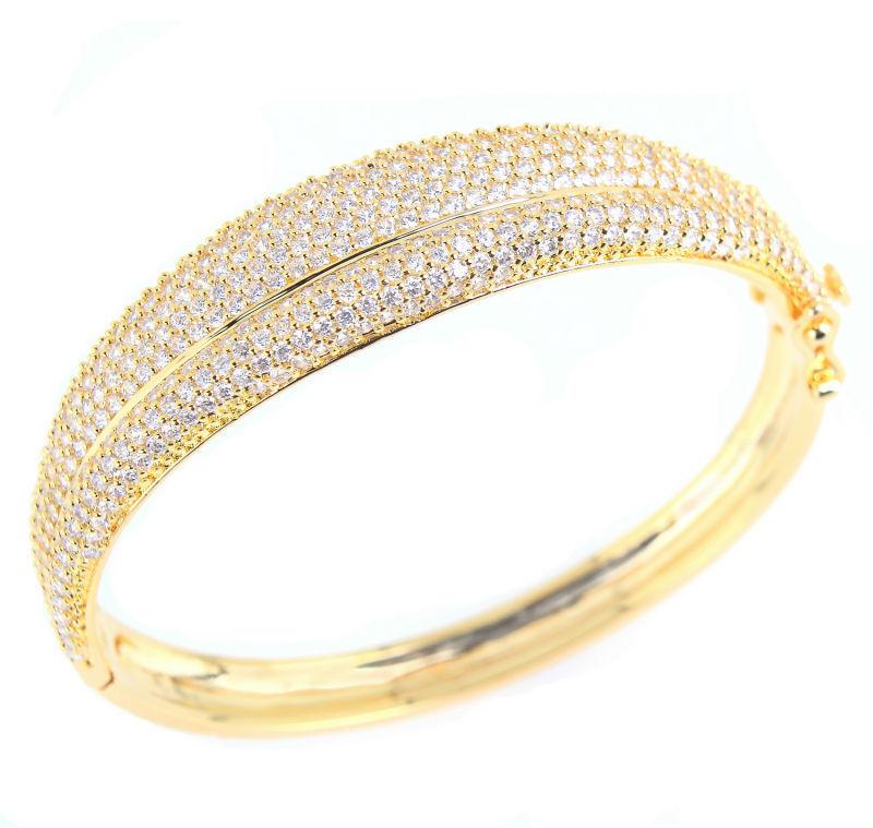 New arrival original design bracelet Trendy Round Top Grade Gold Plated Micro-Setting Zircon female bracelet Free Shipping(China (Mainland))