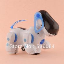 Lovely Electronic Robot Walking Dog Puppy Toy Music Shine Pet Safe Kids Toy Lights Freeshipping(China (Mainland))