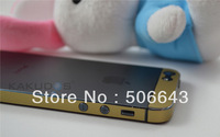 50pcs/lot Gold Skin Sticker for Iphone 5 Matte Decal