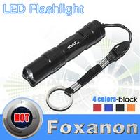 Foxanon Brand High Quality Ultra Bright Mini Aluminum Handy Flashlight Waterproof Torch Portable Cree Q5 Chip Lighting 1pcs/LOT