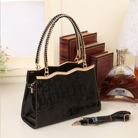 new fall patent leather tote handbag Free Shipping Cheap famous brand designer 2014 stereotypes Messenger bags for woman