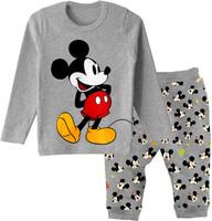 2-7years children boys cartoon mick grey pyjamas baby cotton clothes set kids clothing