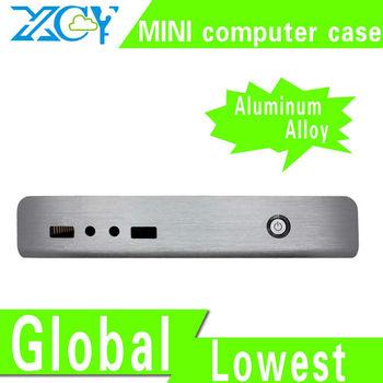 Factory !   slim mini itx case htpc case Mini PC Case Support mini c1037u motherboard fanless