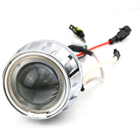 HID Bi-Xenon Motorcycle Projector Lens Kit H7 H1 H4 White Angel Eye and White Devil Eye