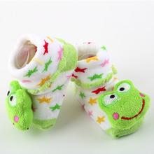 1 pair Cartoon Baby Anti slip Socks Newborn Unisex Slipper Shoes Boots 0 6 Month Brand