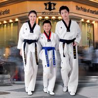 Taekwondo clothes adult child taekwondo myfi stripe taekwondo suit