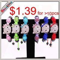 Wholesales 2013 NEW Item Lots Mix Colors Hello kitty bracelet Shamballa bracelet Children Jewelry