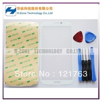 SG/HK Post Freeshipping White Front Outer Lens Glass Cover For Samsung Galaxy Mega i9200  Replacement +Tools+Adhesive