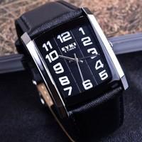 2014 Ikey eyki lovers table square quartz watch mens watch digital calibration fashion strap ladies watch 8448  clocks