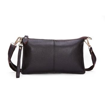 2015 Высокое качество 100% из натуральной кожи конверт женщин клатч сумка вечерние ...