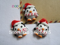 30pcs/lot Wholesale Christmas Penguin, Resin Flatback Flat Back Cabochons for Hair Bow Center, DIY Free Shipping