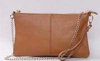 Factory Sale 2014 women clutch bag 100% genuine leather chain messenger shoulder cross-body  handbag wholesale free shipping