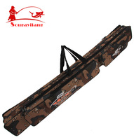Large capacity 1.2m  Camouflage double layer Brand High quality Fishing Rod Bag  Fishing Tackle Fishing Bag