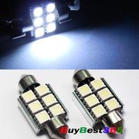 Canbus No free White License Plate LED Light Bulbs 36mm 6411 6413 6418 C5W for Audi A1 A3 A4 A6 BMW E39 E60 E90 E92 E53 E70 E71