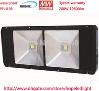 200w waterproof outdoor led light Meanwell driver bridgelux45mil waterproof IP65 3 years warranty   DHL free shipping