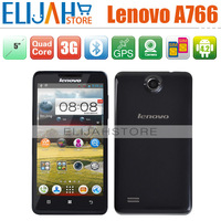 Original Lenovo A766 MTK6589M Quad Core 5'' IPS Bluetooth GPS Android 3G Mobile Phone Multi-Language Russian Smart Cell Phones