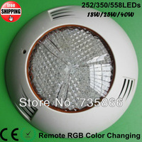 2013 Newest 2pcs/Lot Multi Color Led Swimming Pool Light AC12 350pcs LEDs Chip 25W High Power Underwater Lights Freeship