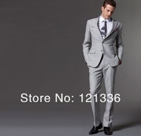2013 quality wool Gray suit Custom made Men(Jacket + pants ) Fashion men suits