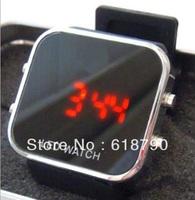 Mirror watch adi led watch silicone watch ,fashion watch,Free shipping