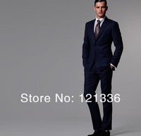 Men's suits groom suit suit (Jacket + pants) quality wool suit