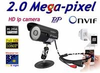 Free shippin Onvif  H.264 2.0 Megapixel 1920*1080 IP Network Outdoor Night Vision Security IR Camera