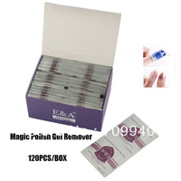 New Arrival !! Free Shipping 120wraps/box UV Gel Magic Nail Remover Wraps , Lacquer Polish Removal Bag