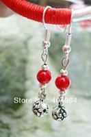 FREE SHIPPING Yunnan national accessories tibetan silver drop earring